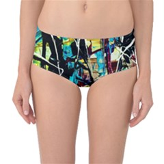 Dance Of Oil Towers 3 Mid Waist Bikini Bottoms