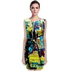 Dance Of Oil Towers 3 Classic Sleeveless Midi Dress