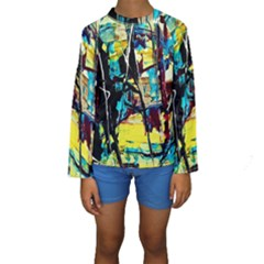 Dance Of Oil Towers 3 Kids  Long Sleeve Swimwear