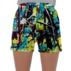 Dance Of Oil Towers 3 Sleepwear Shorts