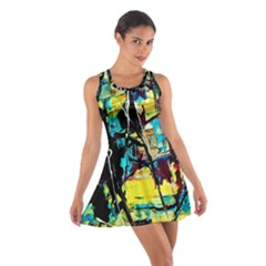 Dance Of Oil Towers 3 Cotton Racerback Dress