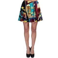 Dance Of Oil Towers 4 Skater Skirt by bestdesignintheworld