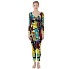 Dance Of Oil Towers 4 Long Sleeve Catsuit