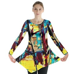 Dance Of Oil Towers 4 Long Sleeve Tunic  by bestdesignintheworld