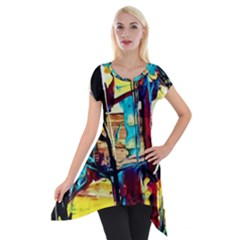 Dance Of Oil Towers 4 Short Sleeve Side Drop Tunic