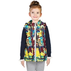 Dance Of Oil Towers 4 Kid s Hooded Puffer Vest