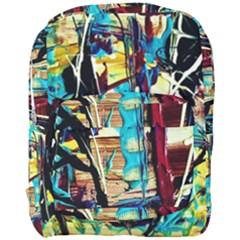 Dance Of Oil Towers 4 Full Print Backpack