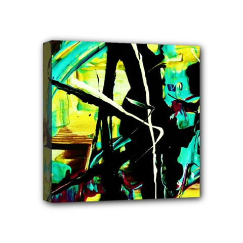 Dance Of Oil Towers 5 Mini Canvas 4  X 4
