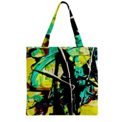 Dance Of Oil Towers 5 Grocery Tote Bag by bestdesignintheworld