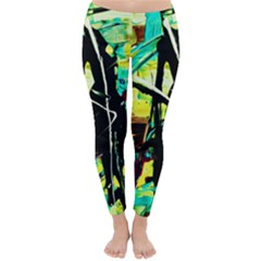 Dance Of Oil Towers 5 Classic Winter Leggings
