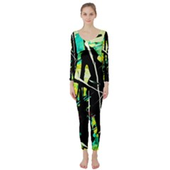 Dance Of Oil Towers 5 Long Sleeve Catsuit