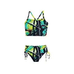 Dance Of Oil Towers 5 Girls  Tankini Swimsuit