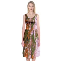 Close To Pinky,s House 12 Midi Sleeveless Dress