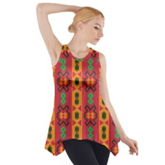 Tribal Shapes In Retro Colors                                 Side Drop Tank Tunic
