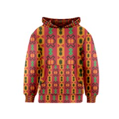 Tribal Shapes In Retro Colors                                 Kid s Pullover Hoodie