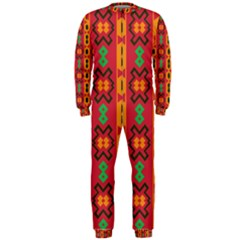 Tribal Shapes In Retro Colors                                 Onepiece Jumpsuit (men)