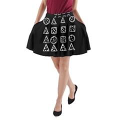 Drawing  A Line Pocket Skirt
