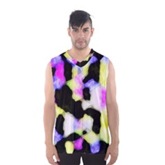 Watercolors Shapes On A Black Background                                  Men s Basketball Tank Top