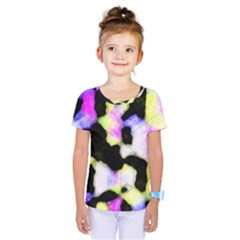 Watercolors Shapes On A Black Background                                   Kids  One Piece Tee