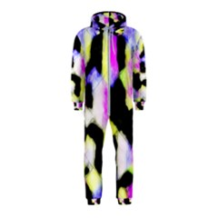 Watercolors Shapes On A Black Background                                  Hooded Jumpsuit (kids)