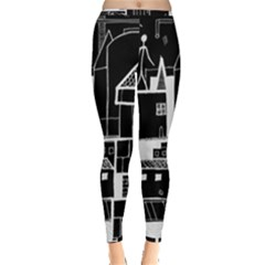 Drawing  Inside Out Leggings