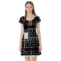 Drawing  Short Sleeve Skater Dress