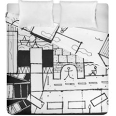 Drawing  Duvet Cover Double Side (king Size)