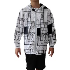 Drawing  Hooded Wind Breaker (kids)