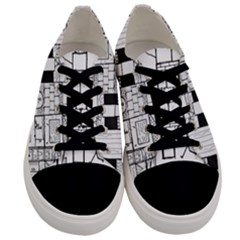 Drawing  Men s Low Top Canvas Sneakers