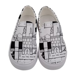 Drawing  Women s Canvas Slip Ons