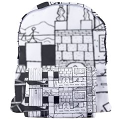 Drawing  Giant Full Print Backpack