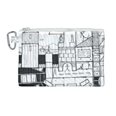 Drawing  Canvas Cosmetic Bag (large)