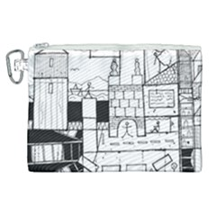 Drawing  Canvas Cosmetic Bag (xl)
