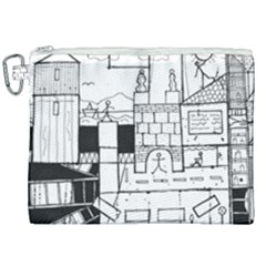 Drawing  Canvas Cosmetic Bag (xxl)