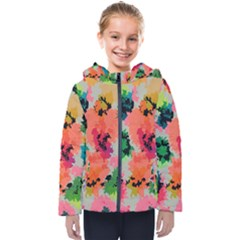 Colorful Spots                                  Kids  Hooded Puffer Jacket