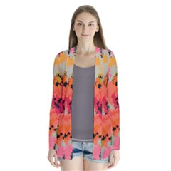 Colorful Spots                             Drape Collar Cardigan