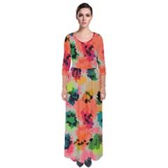 Colorful Spots                                     Quarter Sleeve Maxi Dress