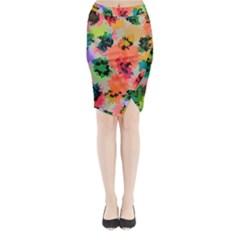 Colorful Spots                             Midi Wrap Pencil Skirt