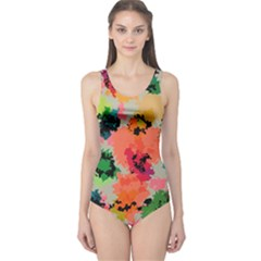 Colorful Spots                                   Women s One Piece Swimsuit