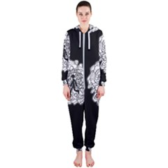 Drawing  Hooded Jumpsuit (ladies)