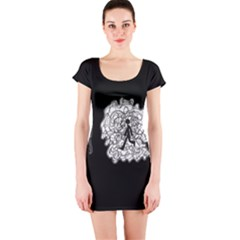 Drawing  Short Sleeve Bodycon Dress