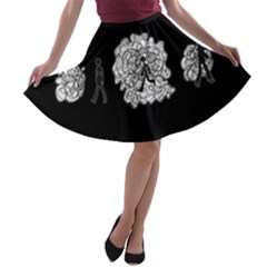Drawing  A Line Skater Skirt