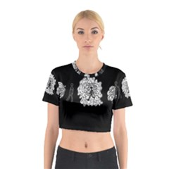 Drawing  Cotton Crop Top