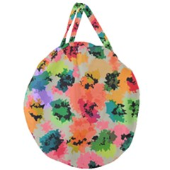 Colorful Spots                                 Giant Round Zipper Tote by LalyLauraFLM