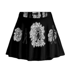 Drawing  Mini Flare Skirt