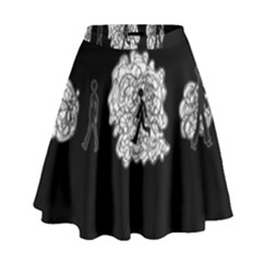 Drawing  High Waist Skirt