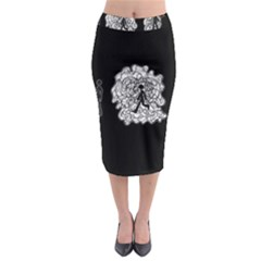 Drawing  Midi Pencil Skirt