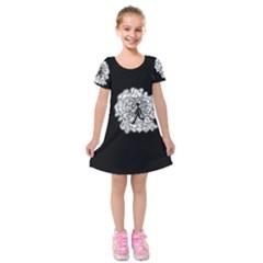 Drawing  Kids  Short Sleeve Velvet Dress