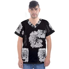 Drawing  Men s V Neck Scrub Top