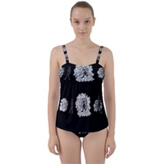 Drawing  Twist Front Tankini Set